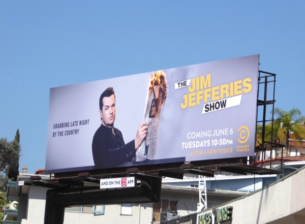 Jim Jefferies Show launch billboard