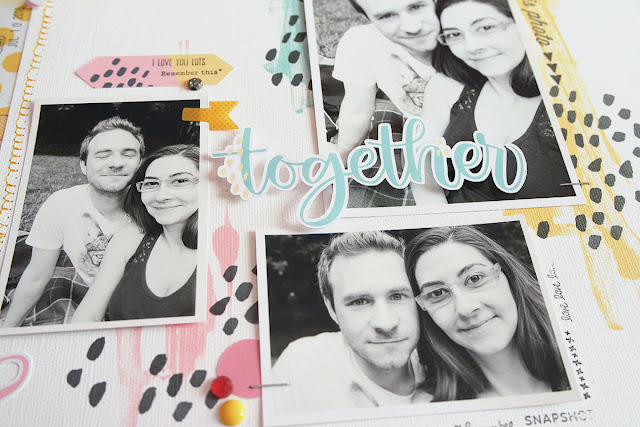 """together"" scrapbooking layout di kushi 