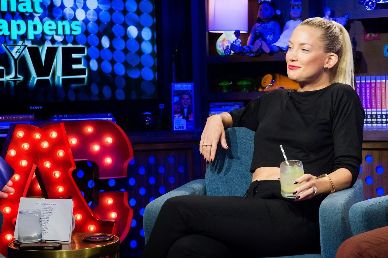 Kate Hudson shows toned midriff at 'Watch What Happens Live' in New York City