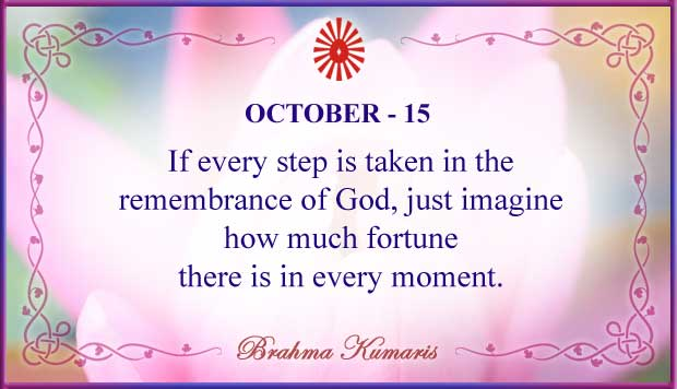 Thought For The Day October 15