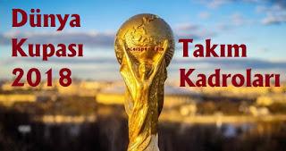 2018 dünya kupası, world cup 2018, dünya kupası grupları, dünya kupası takım kadroları 2018, 2018 dünya kupası takım kadroları, a grubu takım kadroları, rusya, mısır, suudi arabistan, uruguay