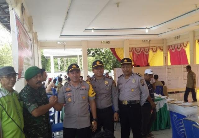 Kapolres Muara Enim Tinjau Proses Rekapitulasi di Tingkat Kecamatan