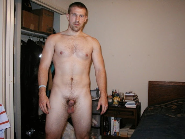Naked straight guy