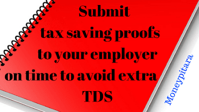 Submit tax saving proofs to your employer on time to avoid extra TDS