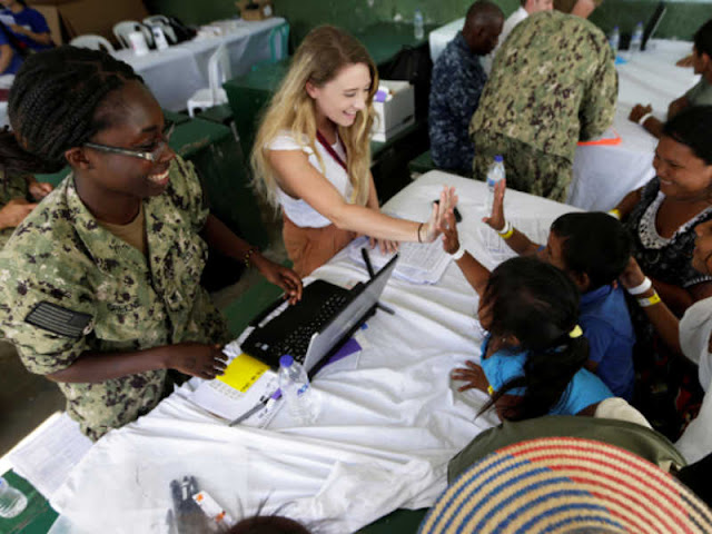 US Navy Hospital Ship Brings Care to Venezuela Migrants in Colombia