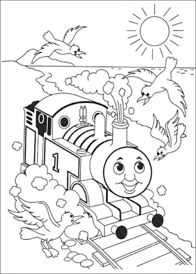 Gambar Mewarnai Thomas and Friends - 19