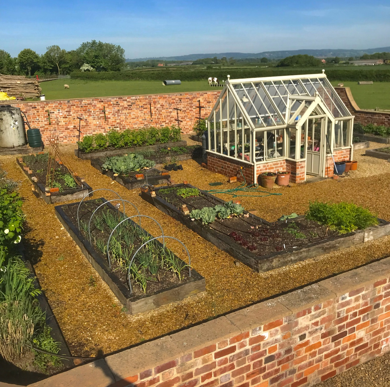 Greenhouse in a Walled Garden UK | Content in a Cottage