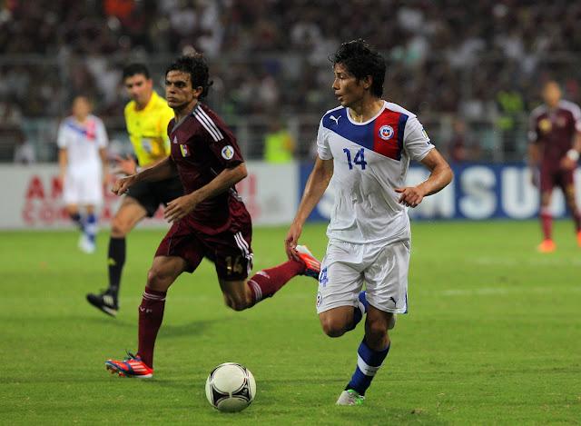 Venezuela y Chile en Clasificatorias a Brasil 2014, 9 de junio de 2012