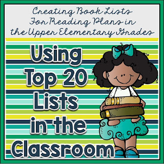 Do you frequently check out the Top 20 book lists at your favorite stores? How about using them in the classroom? Check out this post on Adventure in Literacy Land for ways you can motivate your readers with Top 20 lists.
