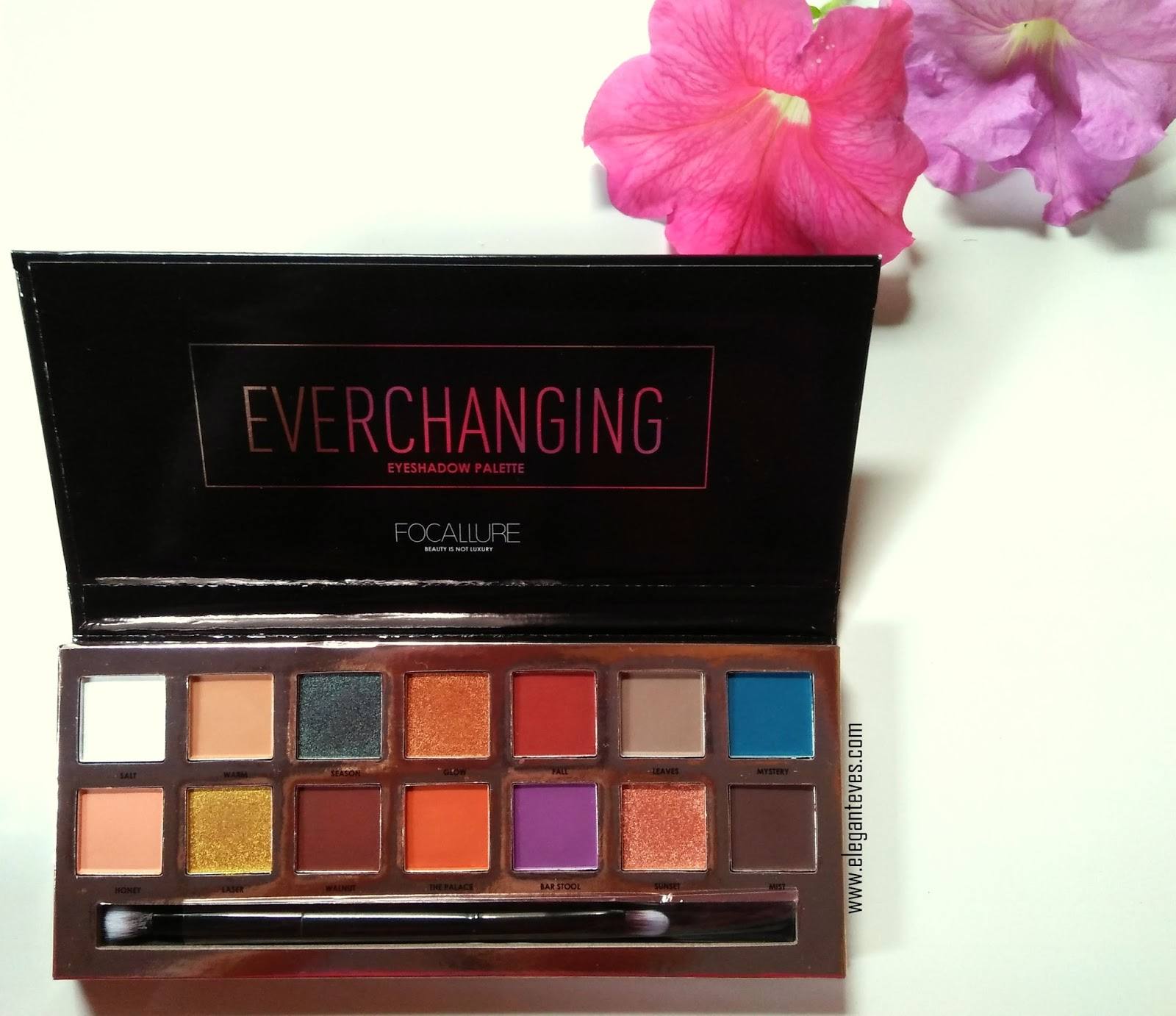 Focallure Everchanging Eyeshadow Palette Review Swatches Elegant Eves