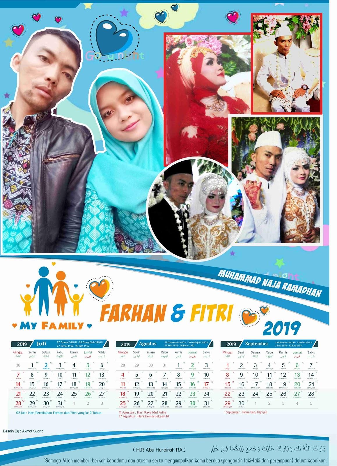 43+ Desain Kalender Keluarga