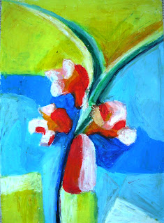 flower, oil pastel, 2007, BANDUNG