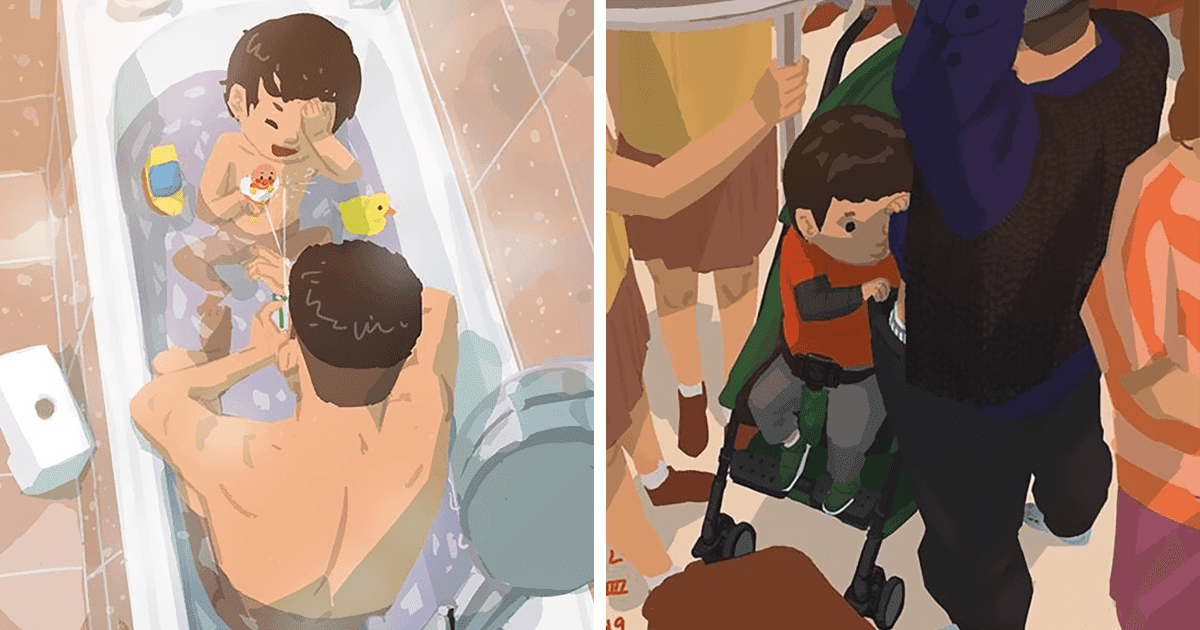 38 Heart-Melting Pictures Show What It's Like To Be A Single Dad