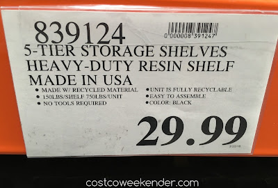 Deal for the Keter Storage Shelves at Costco