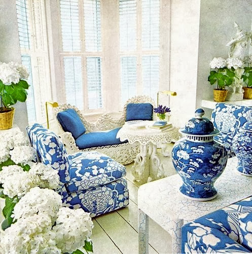 Chinoiserie Chic Blue And White Fabrics All Under
