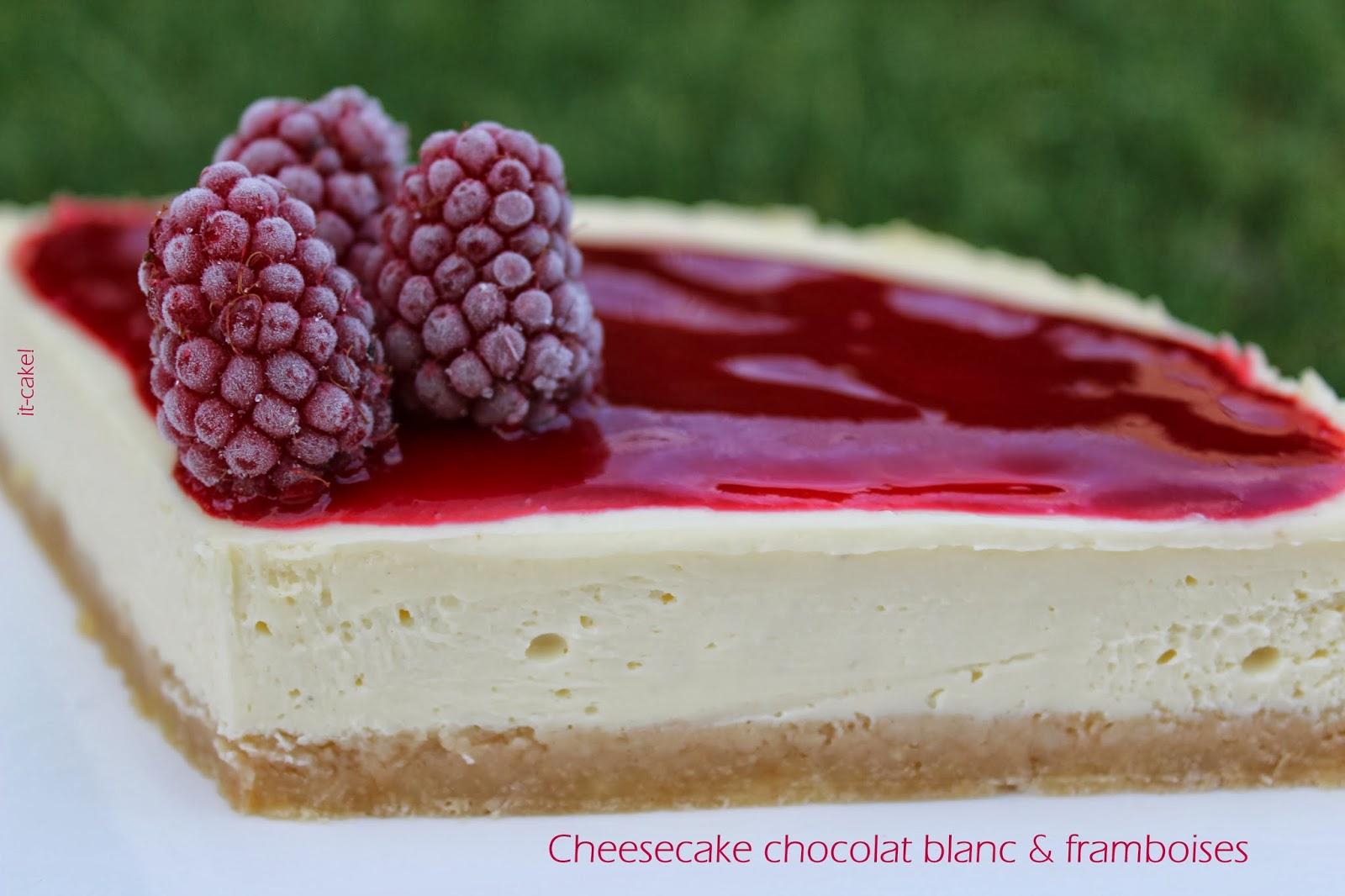 it cake cheesecake chocolat blanc framboises culte. Black Bedroom Furniture Sets. Home Design Ideas