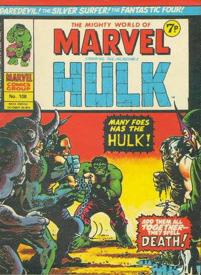 Marvel UK, Mighty World of Marvel #108, Hulk