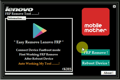 Lenovo Frp Remove Tool 2019 Free Download