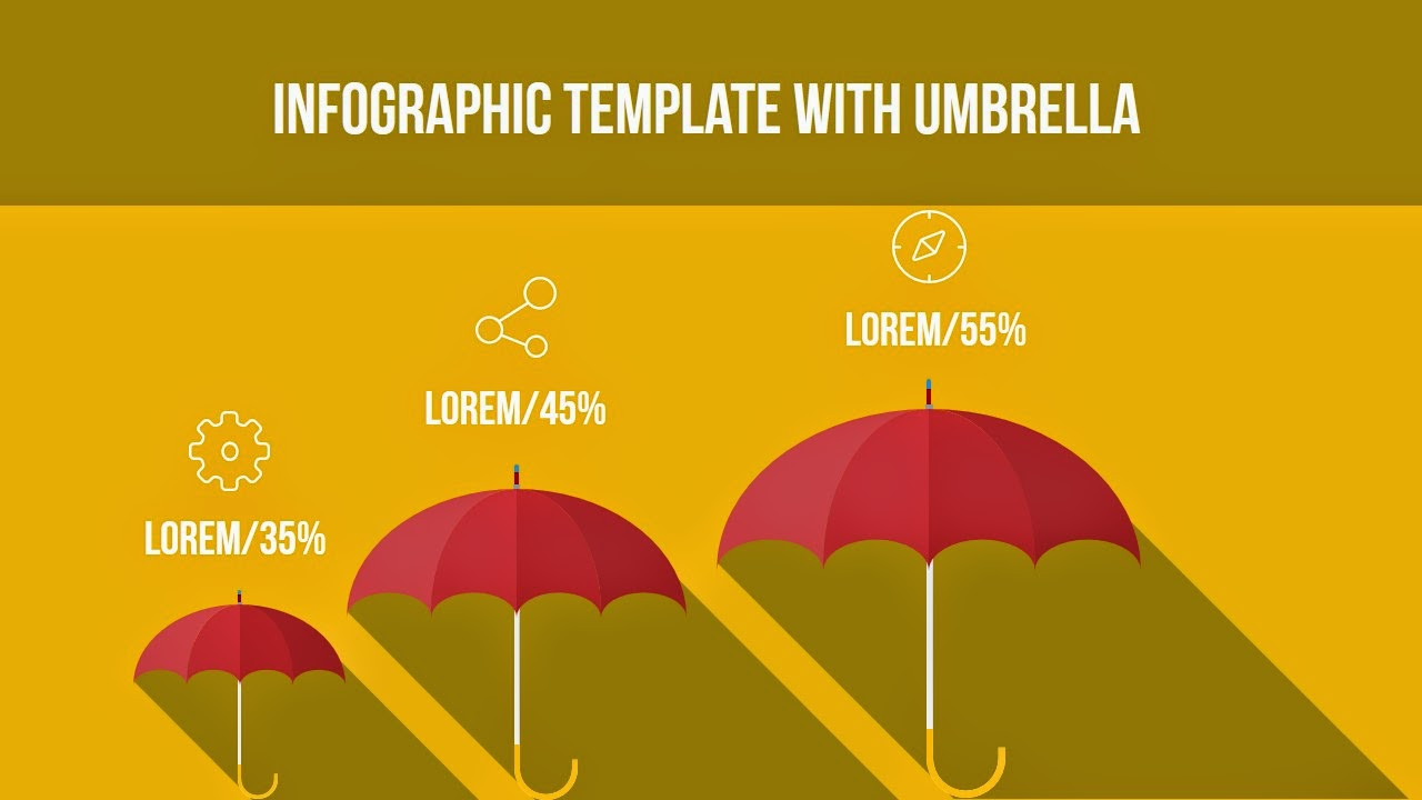 Free infographic ppt download with Umbrella
