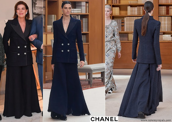 Princess Caroline wore Chanel suit from Fall Winter 2019/20 Ready-to-Wear Collection