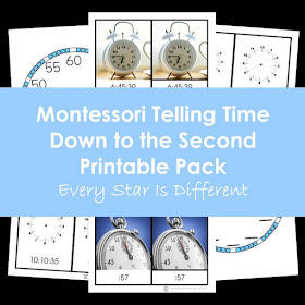 Montessori Telling Time: Down to the Second Printable Pack