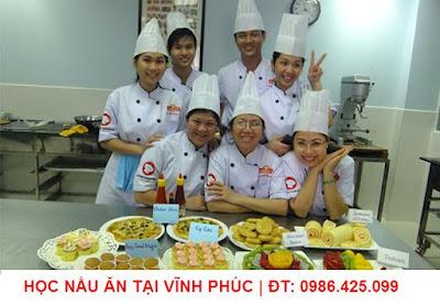Học nấu ăn tại Vĩnh phúc