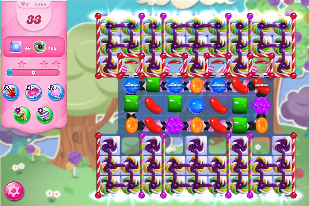 Candy Crush Saga level 5966