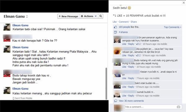 """""""Kalau Kelantan Menang, Aku Sanggup Jadikan Mak Aku Pelacur"""""""