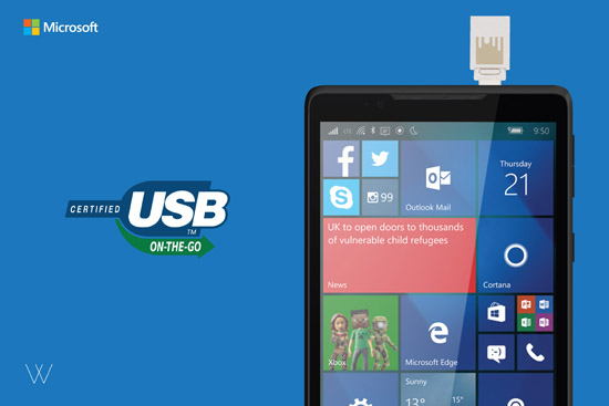 Microsoft Wise Pad 7 dengan fungsi USB On-The-Go