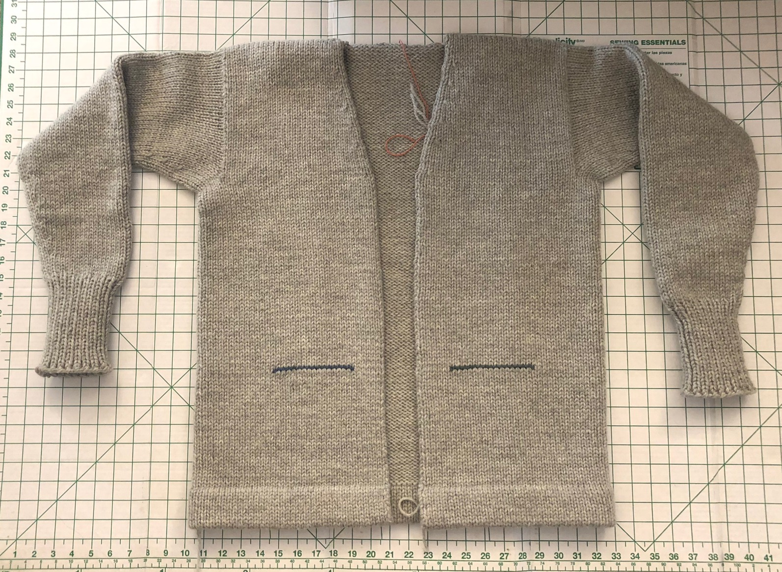 fe7a19f922 The Hall of Fame Knitter  Work-in-Progress  Status of the Ty Cobb Sweater