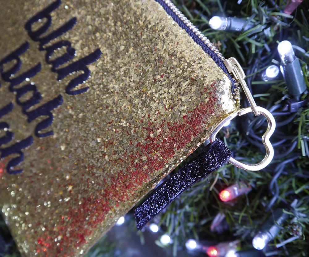 SoS15 gold blah bag, bag zipper pull detail, christmas gift ideas