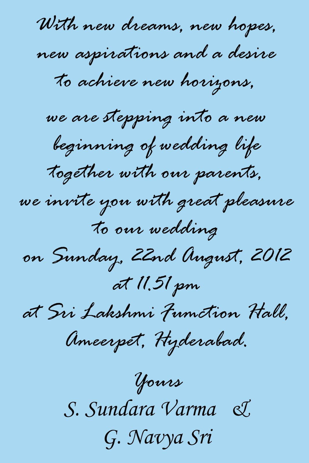 Indian Wedding Invitation Wording For Friends Card | PaperInvite
