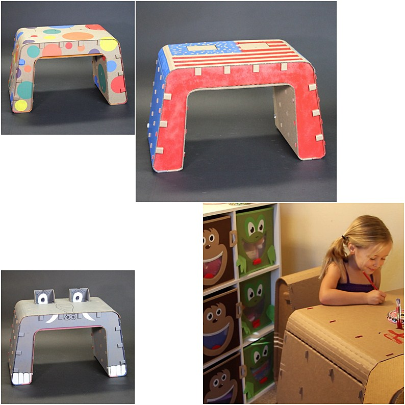 The Cardboard Guys Eco-Friendly Cardboard Furniture for Kids to Doodle On