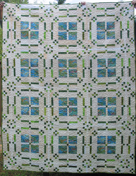 Flowers in My Windows Quilt Free Pattern