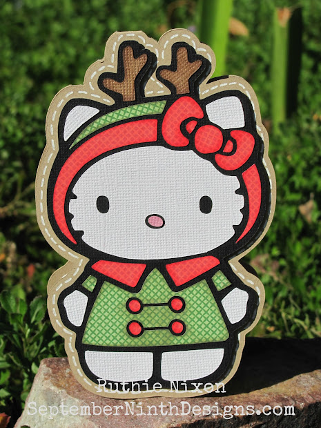 September Ninth Design Reindeer Kitty Freebie