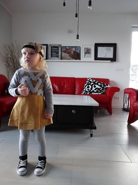 sukienka w liski dla dziewczynki 1