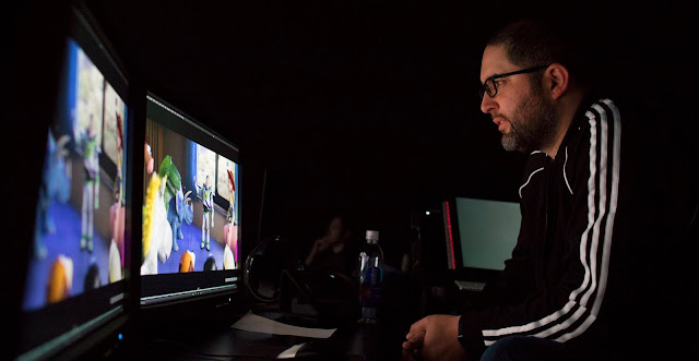 Josh Cooley Reviewing Toy Story 4 reels