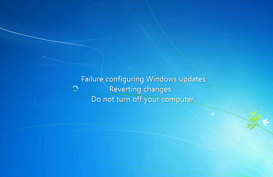 Windows 7 update failure loop