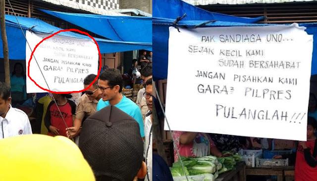Timses Jokowi Tuding Poster 'Sandi Pulanglah' Hanya Sandiwara