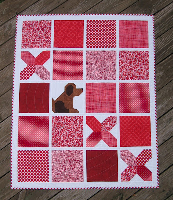 Tic Tac Woof! by Canuck Quilter Designs