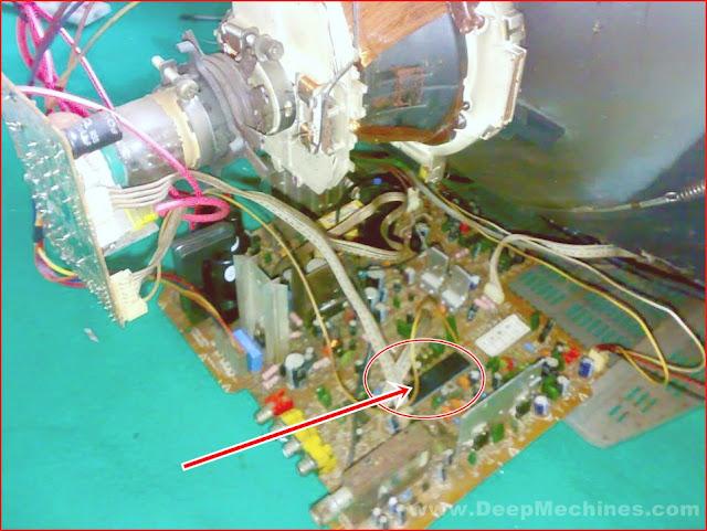 Kerusakan Tidak ada Raster pada TV POLYTRON 21-Inc Seri: Minimax Model: (MX5203M)