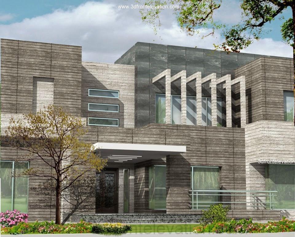 Front Elevation Of 2 Kanal Houses : D house plans pakistan pomegranate pie