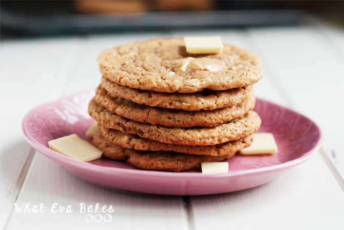 Cookies con chips de chocolate blanco