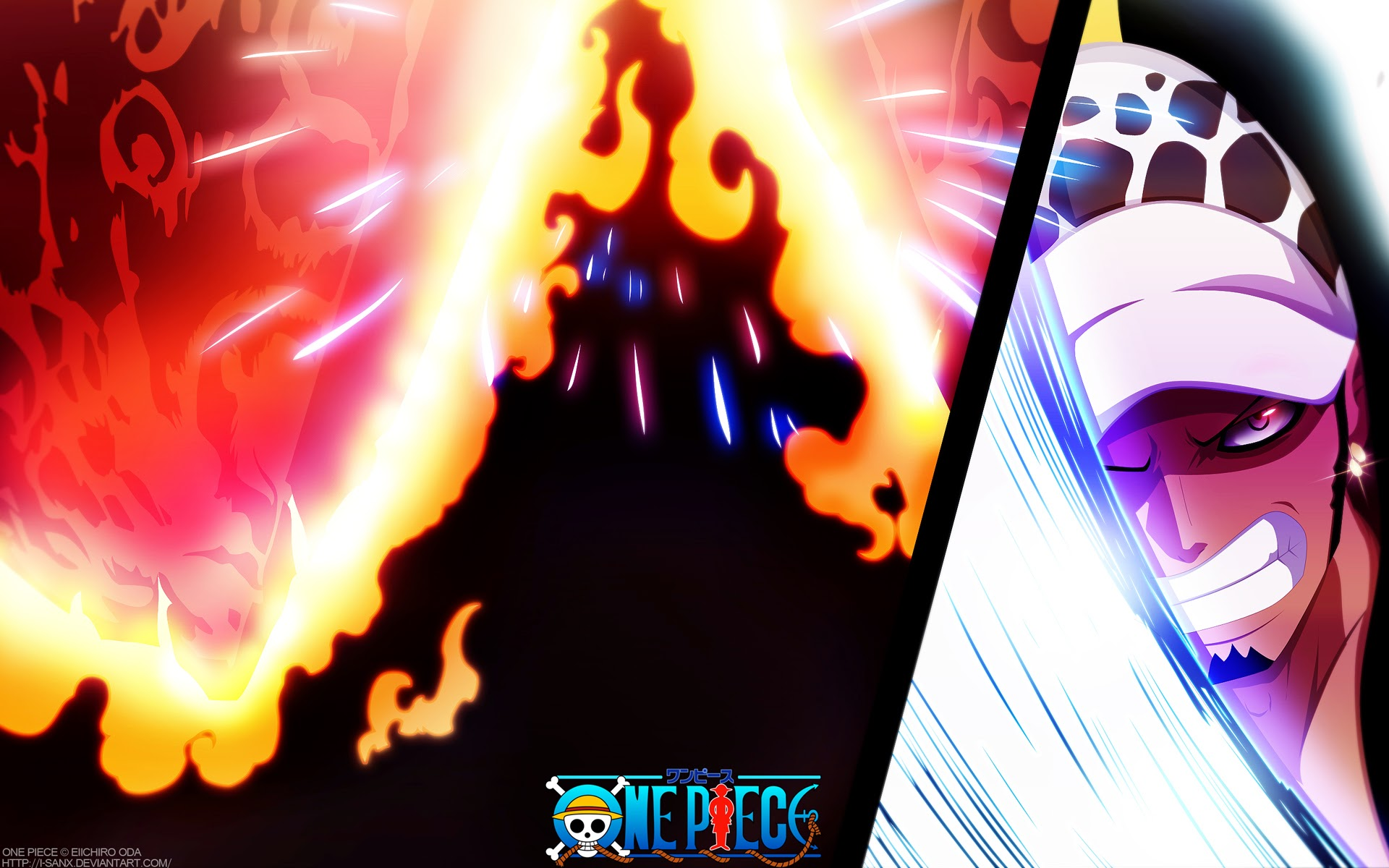 Anime Free Wallpaper Trafalgar Law Slash Meteor One Piece