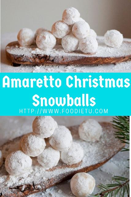Amaretto Christmas Snowballs