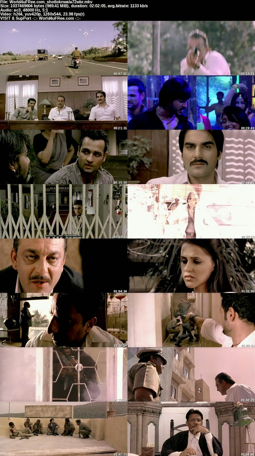 Shootout at Lokhandwala 2007 720p BluRay 1GB AC3 5.1