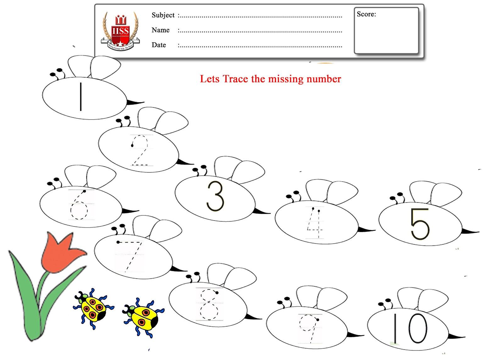 IISS: Butterfly Number Activity For Kindegarten