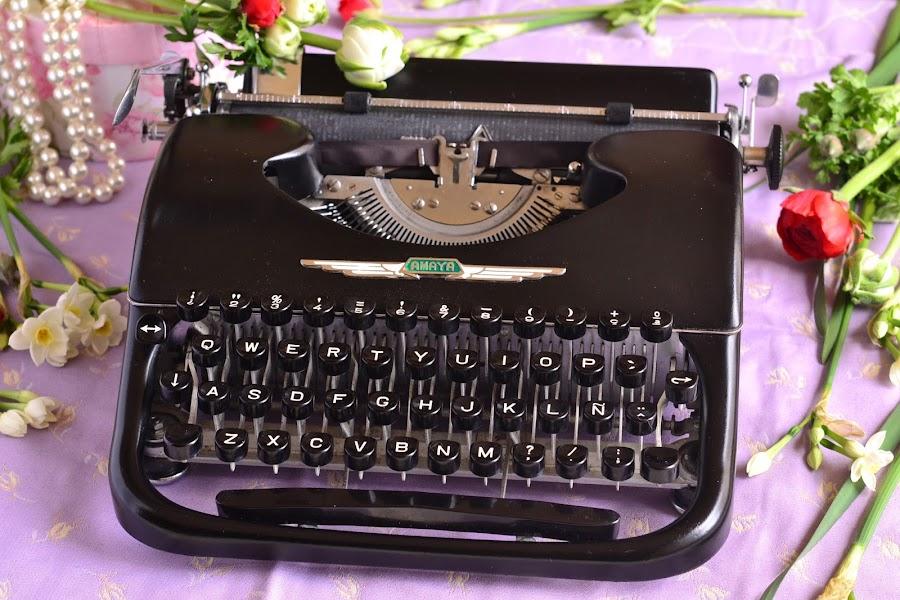 Maquina de escribir antigua decoracion para bodas vintage