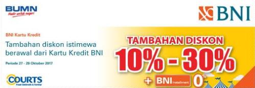 BNI berikan tambahan diskon 30%