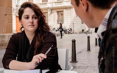 Chica Sombra entrevistando a Nacho Diago